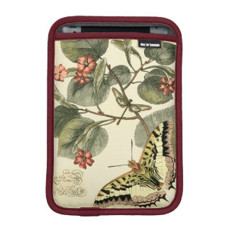 Butterfly and Dragonfly with Red Flowers iPad Mini Sleeve