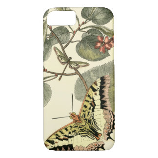 Butterfly and Dragonfly with Red Flowers iPhone 8/7 Case