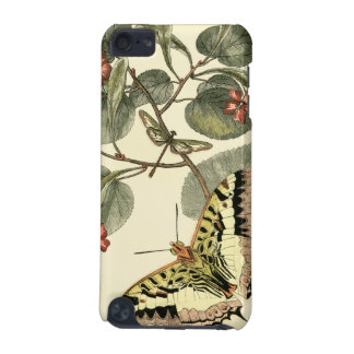 Butterfly and Dragonfly with Red Flowers iPod Touch 5G Case