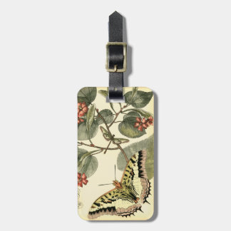 Butterfly and Dragonfly with Red Flowers Luggage Tag