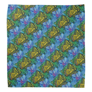 Butterfly and Floral Pattern Bandana