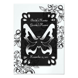 Butterfly and Flourish Card