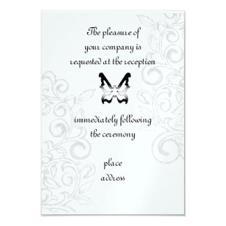 Butterfly and Flourish Reception Card