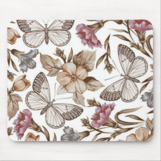Butterfly And Flower Colorful Pattern Mouse Pad