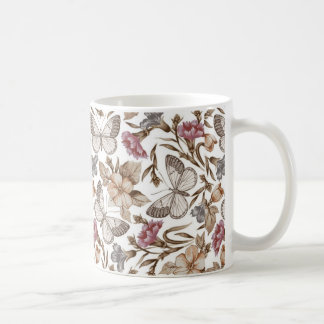 Butterfly And Flower Colorful Pattern Coffee Mug