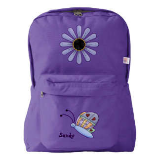 Butterfly and Flower Custom Backpack
