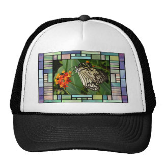 Butterfly and flower trucker hats