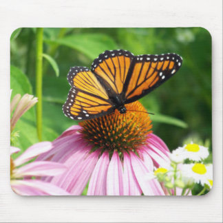 Butterfly and Flower Mouse Pad