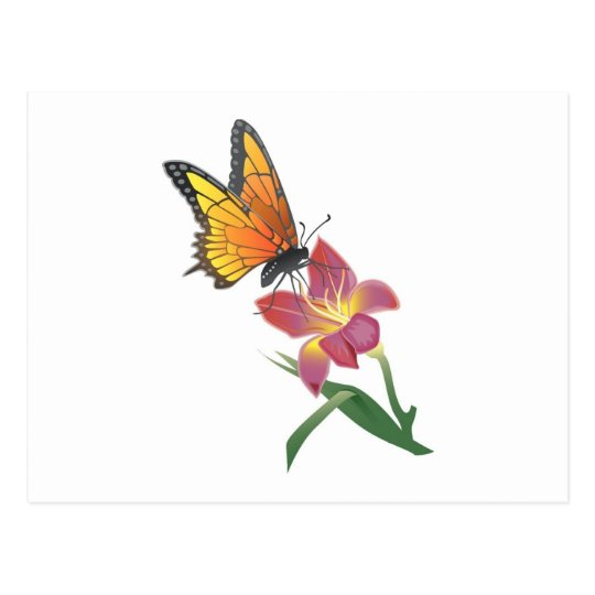 Butterfly and Flower Postcard