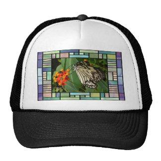 Butterfly and flower trucker hats