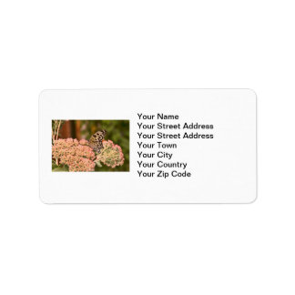 Butterfly and Flowers Address Label