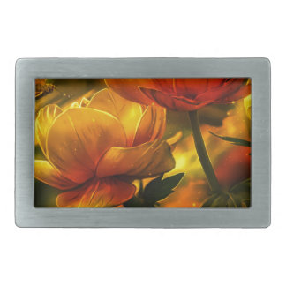 Butterfly and flowers belt buckles