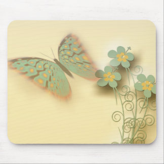 Butterfly and Flowers Mousepad