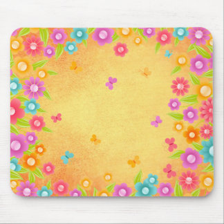 Butterfly and flowers summer mousepad