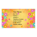 Butterfly and flowers summer orange burst business business cards