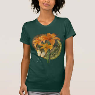 Butterfly and Lillies Tshirt