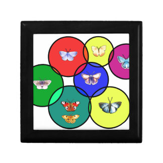 butterfly and mosaics small square gift box