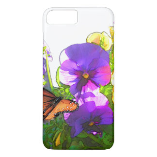 BUTTERFLY AND PANSIES iPhone 7 PLUS CASE