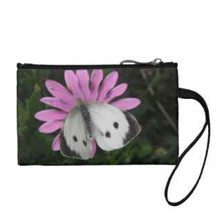 Butterfly and Pink Flower Bagettes Bag