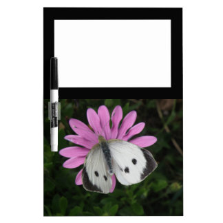 Butterfly and Pink Flower Memo Board