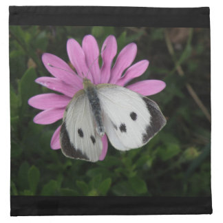 Butterfly and Pink Flower Napkin