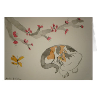 Butterfly and Plum Blossoms Card