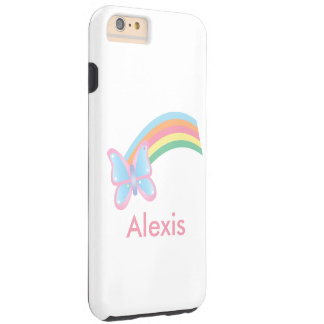 Butterfly and Rainbow Tough iPhone 6 Plus Case