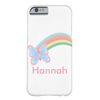 Butterfly and Rainbow Customizable Barely There iPhone 6 Case