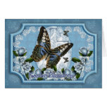 Butterfly And Rose Easter Greeting Card