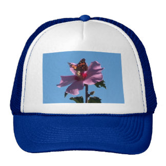 Butterfly and Rose of Sharon Hats