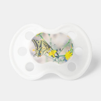 Butterfly and Small Yellow Flowers Dummy