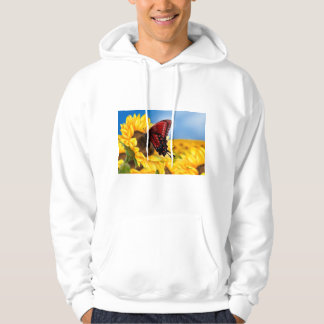 Butterfly and Sunflower Hoodie