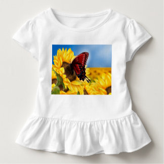 Butterfly and Sunflower Toddler T-Shirt