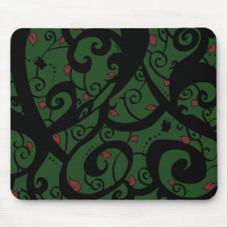Butterfly and Vine Designs-Green- Series #2- MP- Mousepads