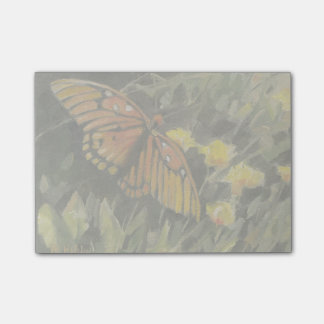 Butterfly and yellow flowers post-it® notes