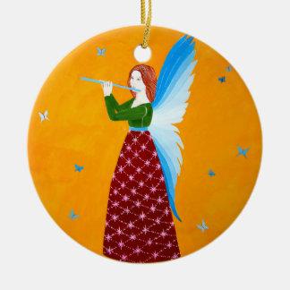 Butterfly Angel Round Ceramic Decoration
