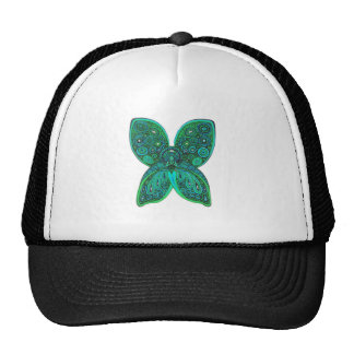 Butterfly Angel with Blue Green Wings Cap