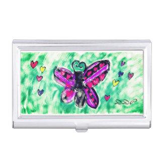 butterfly art 3 business card holder
