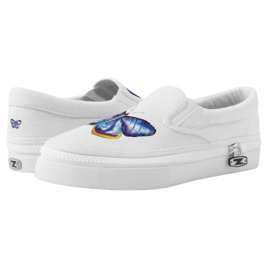 Butterfly Art Custom Zipz Slip On Shoes