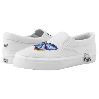 Butterfly Art Custom Zipz Slip On Shoes Printed Shoes