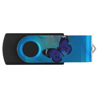 Butterfly Art Customisable USB Swivel Flash Drive