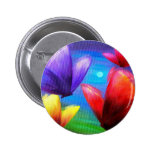 Butterfly Art Painting - Multi Pinback Buttons
