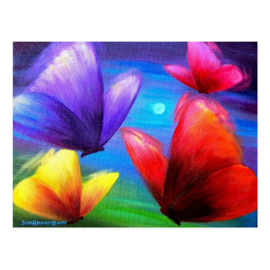 Butterfly Art Painting - Multi Postcard