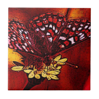 Butterfly Art Small Square Tile