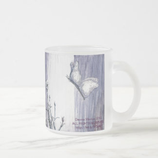 Butterfly at the Veil Frosted Glass Coffee Mug