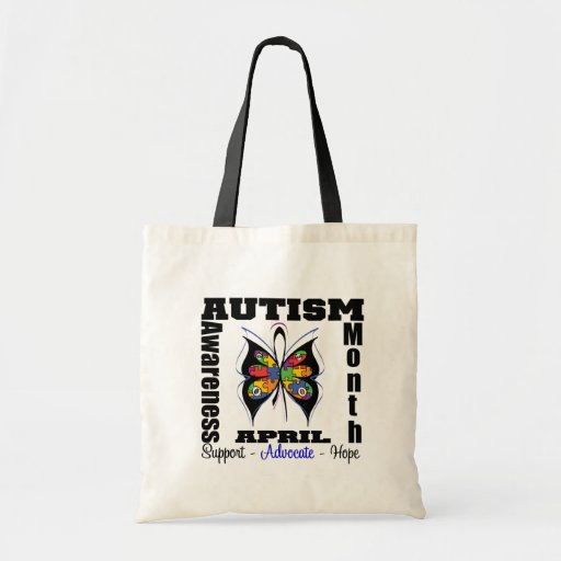 Butterfly - Autism Awareness Month Canvas Bag