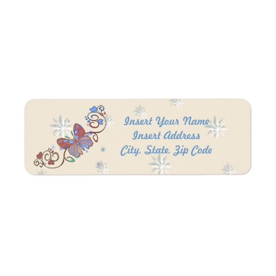 Butterfly Avery Label Return Address Label