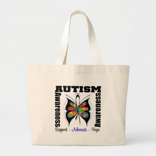 Butterfly Awareness - Autism Tote Bags