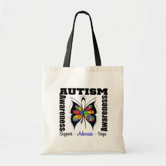 Butterfly Awareness - Autism Budget Tote Bag