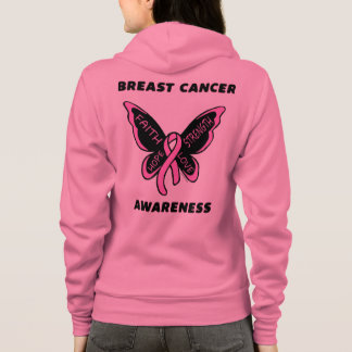 Butterfly/Awareness...Breast Cancer Hoodie